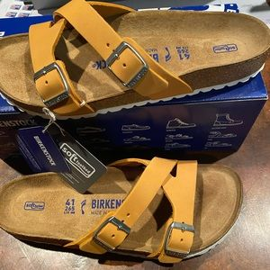 Birkenstock Yao apricot leather 10 narrow new